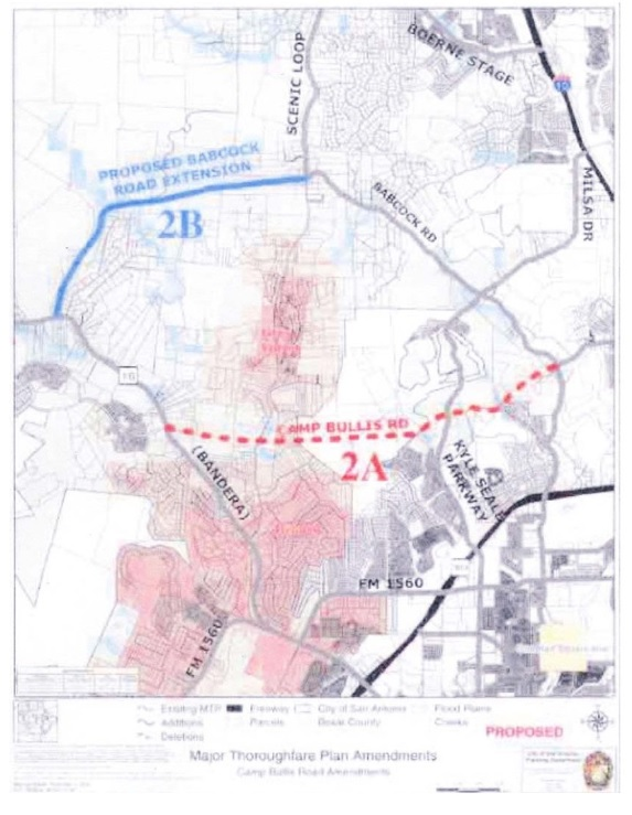 Camp Bullis Road Amendments Map